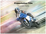 Powerpoint Templates for Blue Racing Bike