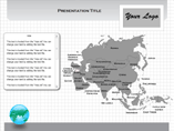 Windows Asia Flash Maps Templates For Powerpoint