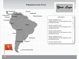 Windows South America Flash Maps Templates For Powerpoint