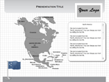 MAC North America Flash Maps Templates For Powerpoint
