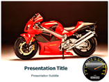 Red Racing Bike Templates For Powerpoint