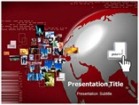 Business All over the World Pictures Templates For Powerpoint