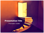 Stairs to Door Templates For Powerpoint