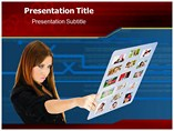 Touch screen interface Templates For Powerpoint