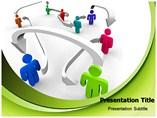 People Interlinking PowerPoint Templates