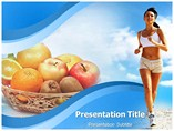 Healthy fitness Templates For Powerpoint