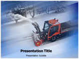 Snow Removal Machine Templates For Powerpoint