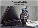 Computer Terrorism Templates For Powerpoint