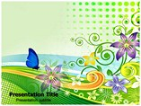 Beautiful Butterflies powerpoint template themes