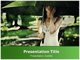 Summer Rain  powerpoint template