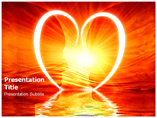 Heart Reflection Templates For Powerpoint