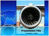 Jet engine Templates For Powerpoint