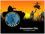 army national guard powerpoint template