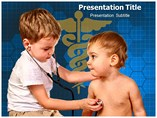 Children Play Doctor powerpoint template