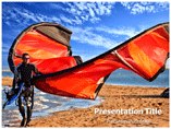 kite Surfer Templates For Powerpoint