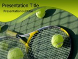 Tennis Rackets Templates For Powerpoint