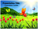 Multicoloured Butterfly Templates For Powerpoint