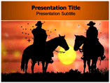 cow boy Templates For Powerpoint