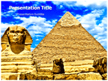 Sphinx and Great Pyramid Templates For Powerpoint