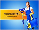 Cleaning Woman Templates For Powerpoint