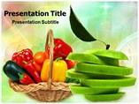Basket Of Fruits And Vegetables Templates For Powerpoint