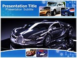 Luxury cars animated powerpoint template