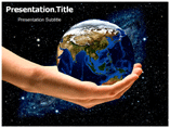 Earth in hand Templates For Powerpoint
