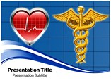 Heart With Medical Logo Templates For Powerpoint