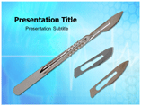 Surgeons Scalpels Templates For Powerpoint