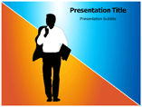 Business Rush 3D Man Image PowerPoint Templates