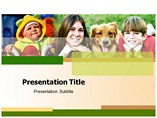Kids And Dog Templates For Powerpoint