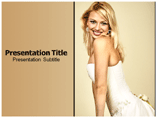 Lady In White Templates For Powerpoint