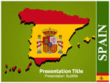 Map Of Spain Templates For Powerpoint