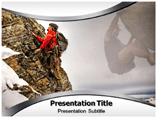 Rock Climber powerpoint template