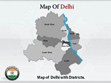 Delhi Maps Templates For Powerpoint