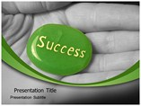 Success on Hand PowerPoint Layouts