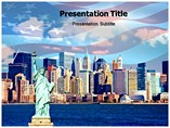 New York Tourism Templates For Powerpoint
