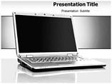 Laptop Model  lide PowerPoint Template