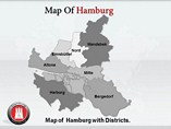 Hamburg Map Templates For Powerpoint