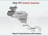 Central America Maps Templates For Powerpoint