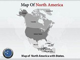 North America Maps Templates For Powerpoint