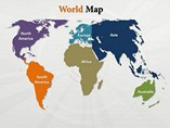 World Map Continents Outline Templates For Powerpoint
