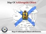 Arkhangelsk Oblast Map Templates For Powerpoint