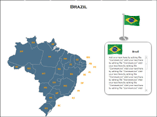 Brazil Map (XML) Templates For Powerpoint