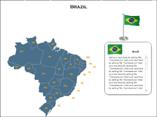 Brazil Map (XML) PowerPoint Templates
