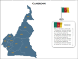 Cameroon Map (XML) PowerPoint Templates