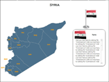 Syria Map XML PowerPoint Templates