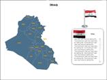 Iraq Map XML Powerpoint Templates