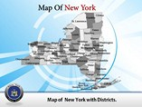 New York Map Powerpoint Templates