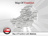 Frankfurt Map PowerPoint Templates